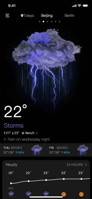 Thời tiết chính xác trực tiếp