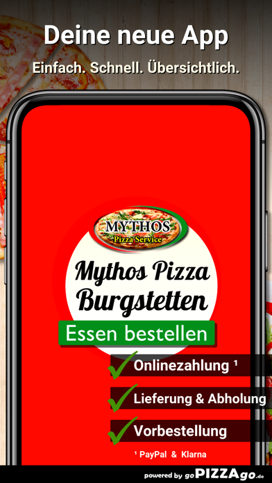Mythos Pizza Burgstetten screenshot 1