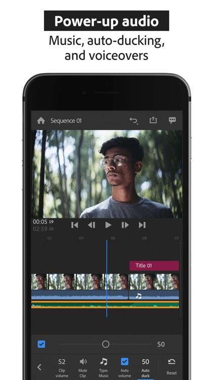 Adobe Premiere Rush:Edit Video screenshot-5