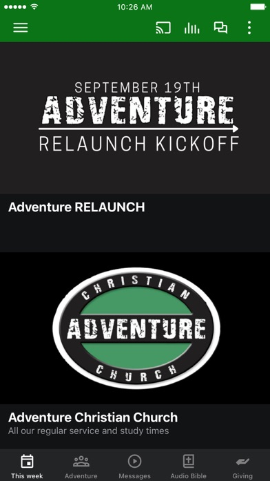 Screenshot 1 of Adventure Patterson App