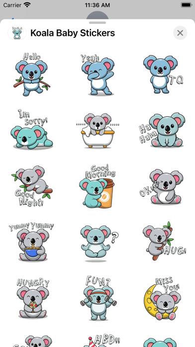 Koala Baby Stickers screenshot 2