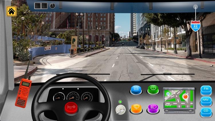 Kids Vehicles Fire Truck games screenshot-7