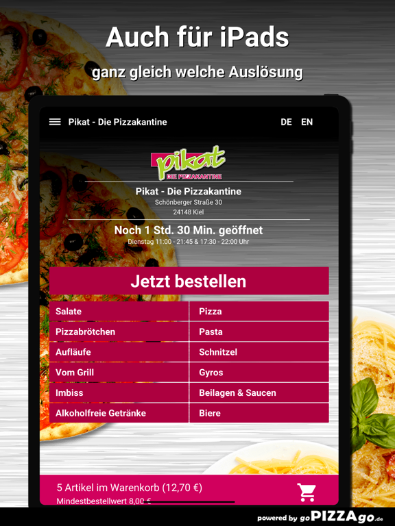 Pikat - Die Pizzakantine Kiel screenshot 7