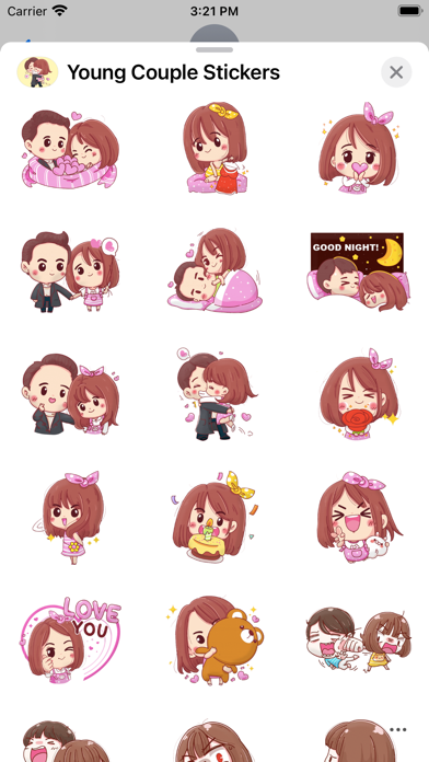 Young Couple Stickers screenshot 3