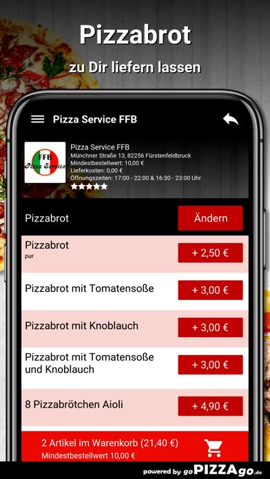 Pizza Service FFB Fürstenfeldb screenshot 5