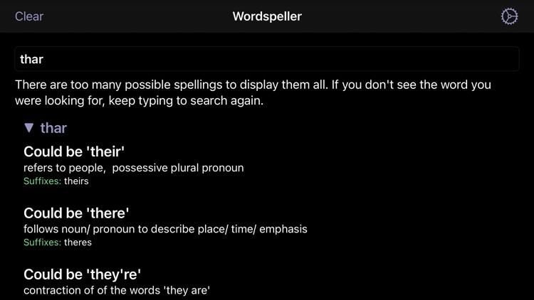 Wordspeller PhoneticDictionary screenshot-3
