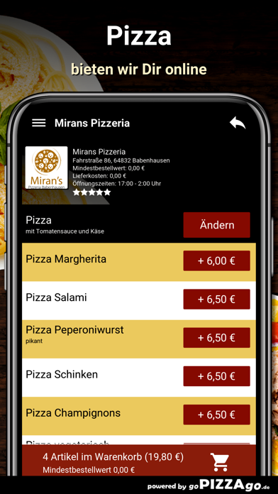 Mirans Pizzeria Babenhausen screenshot 5