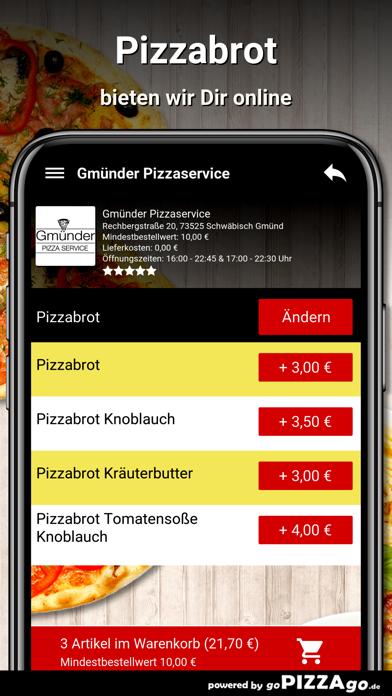 Gmünder Pizzaservice Schwäbisc screenshot 5