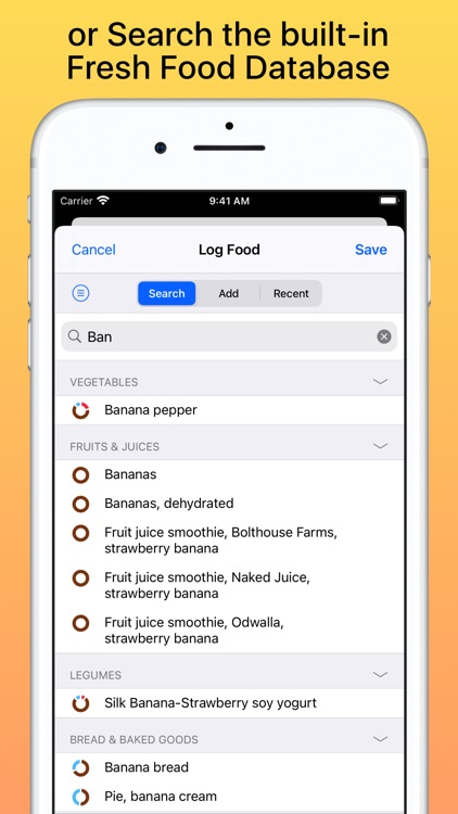 Nutrients & Calories screenshot-4
