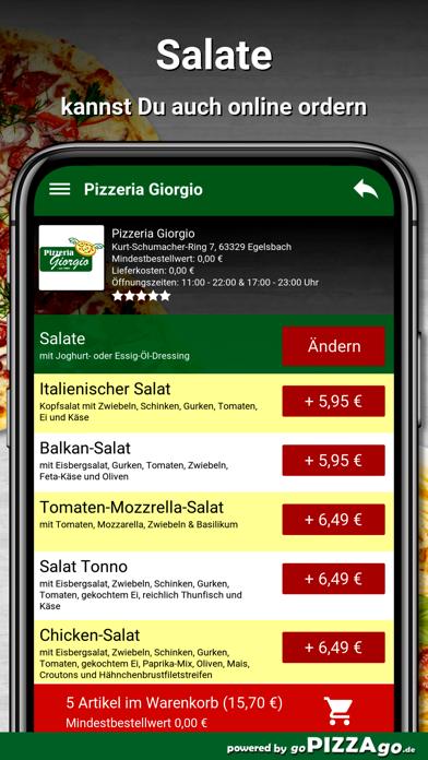 Pizzeria Giorgio Egelsbach screenshot 5