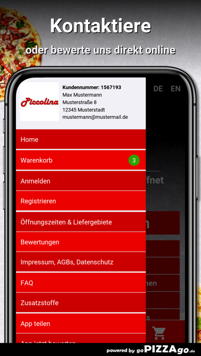 Pizzeria Piccolina Liederbach screenshot 3
