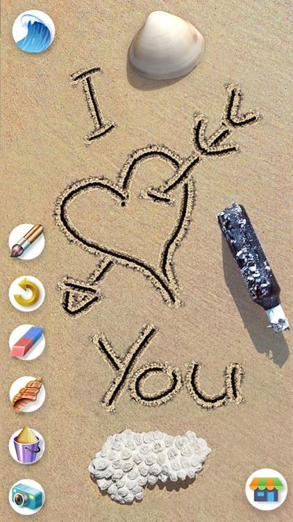 Sand Draw: Beach Wave Art Game