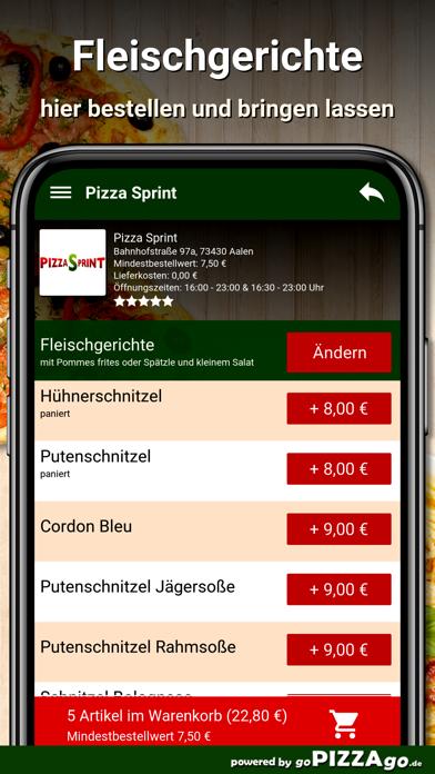 Pizza Sprint Aalen screenshot 6