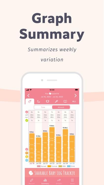 Newborn Baby Tracker - PiyoLog screenshot-3