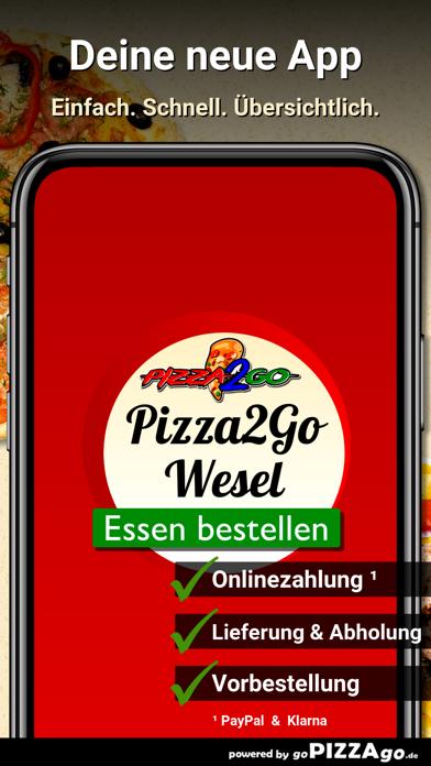 Pizza2Go Wesel screenshot 1