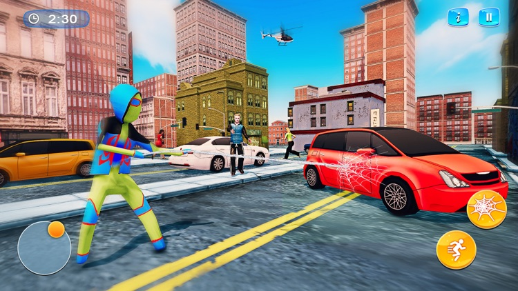 Spider Stickman - Rope Hero 3D screenshot-3