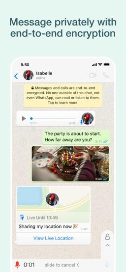 WhatsApp Messenger app screenshot