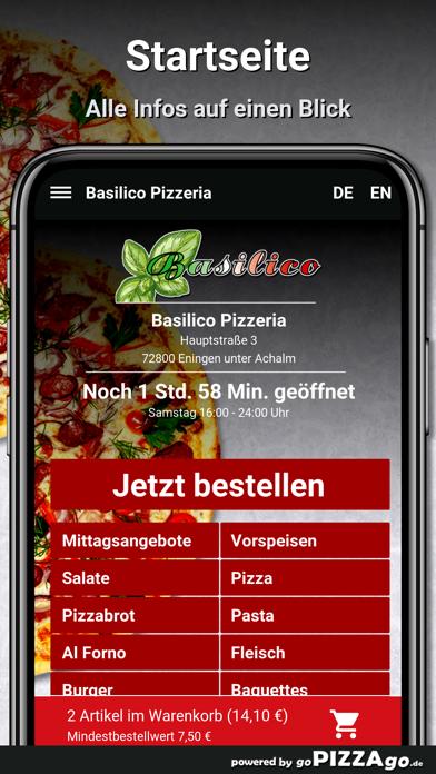 Basilico Pizzeria Eningen unte screenshot 2