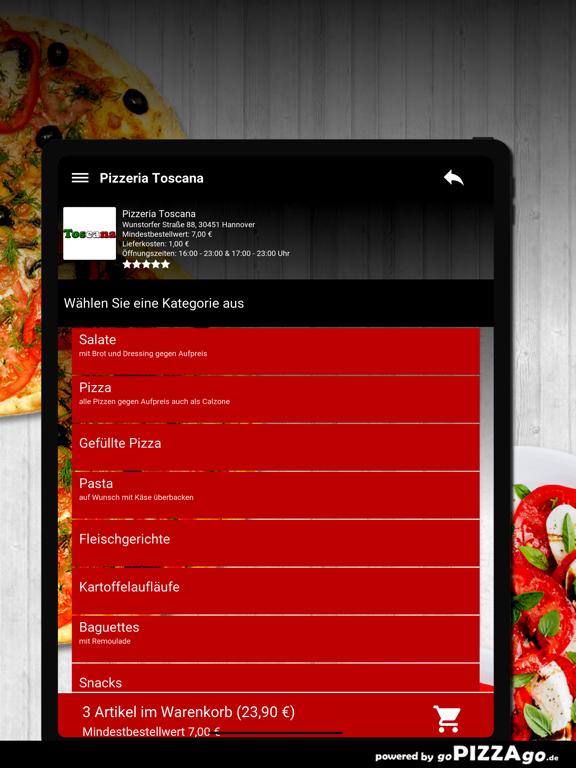 Pizzeria Toscana Hannover screenshot 8