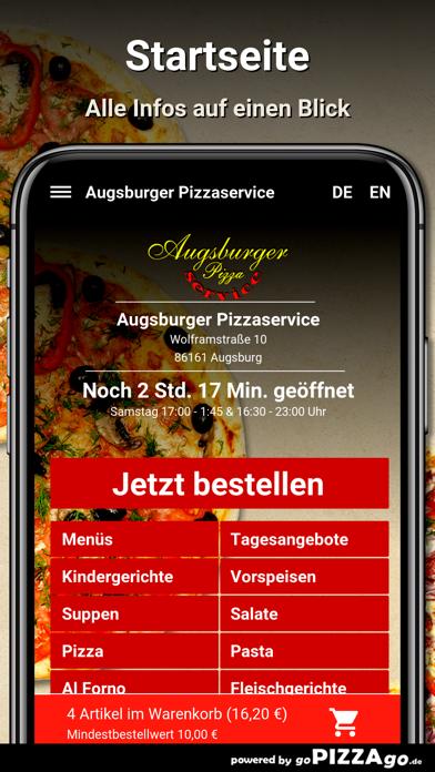 Augsburger Pizzaservice Augsb screenshot 2