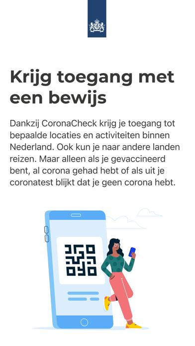 CoronaCheck iPhone app afbeelding 1