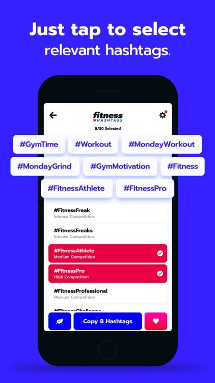 Fitness Hashtags App screenshot-3