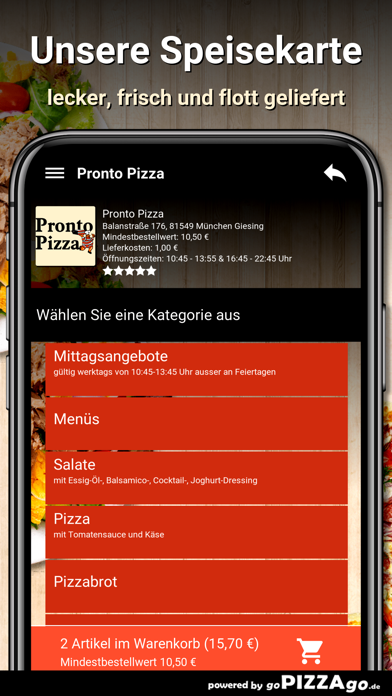 Pronto Pizza München Giesing screenshot 4
