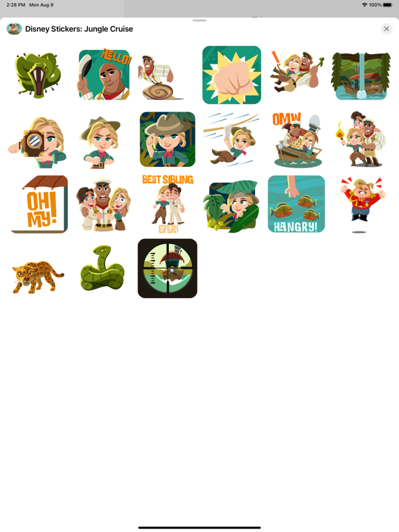 Jungle Cruise Stickers screenshot 6