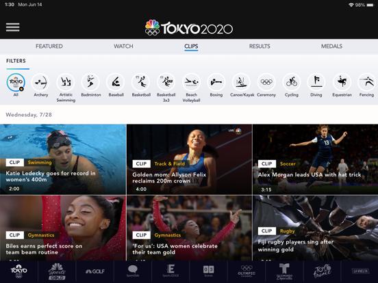iPad Image of NBC Sports