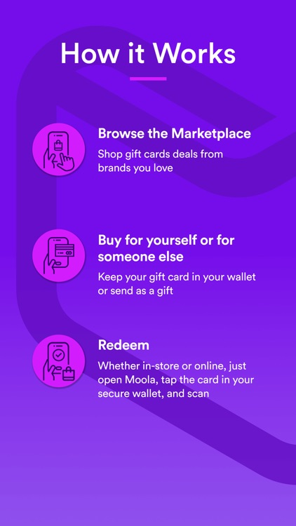 Moola - Buy & Store Gift Cards
