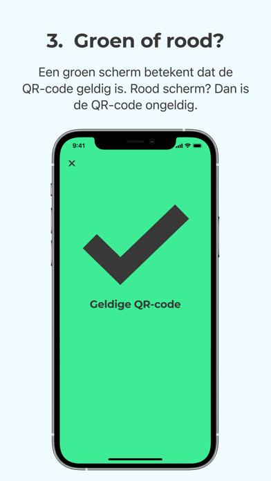 Scanner voor CoronaCheck iPhone app afbeelding 5