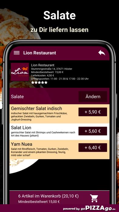Lion Restaurant Höxter screenshot 5