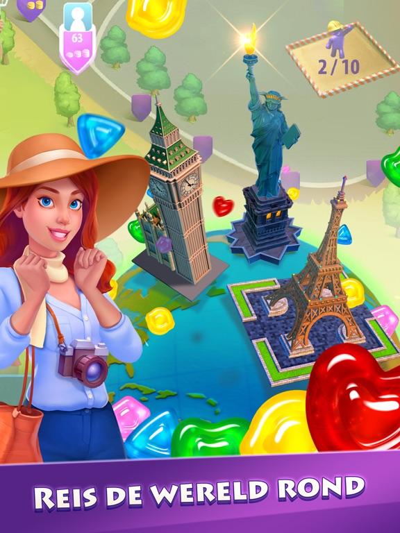 Gummy Drop! Match 3-puzzels iPad app afbeelding 3