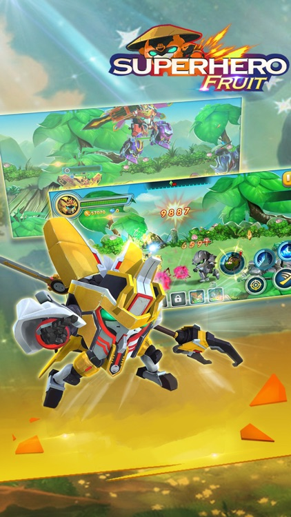 Superhero Fruit: Robot War screenshot-3
