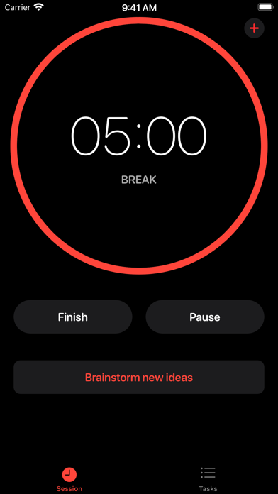Screenshot of Clockable - Pomodoro Timer App