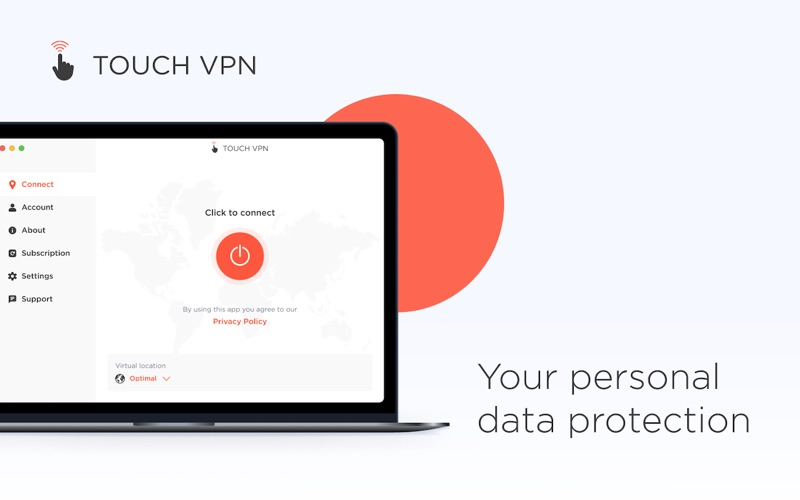 Touch VPN - Unlimited Proxy Screenshot