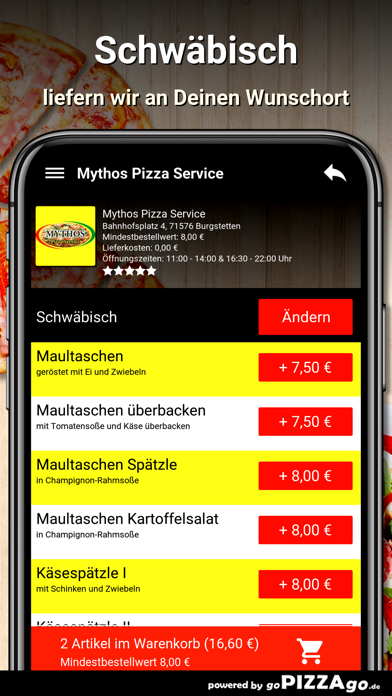Mythos Pizza Burgstetten screenshot 6
