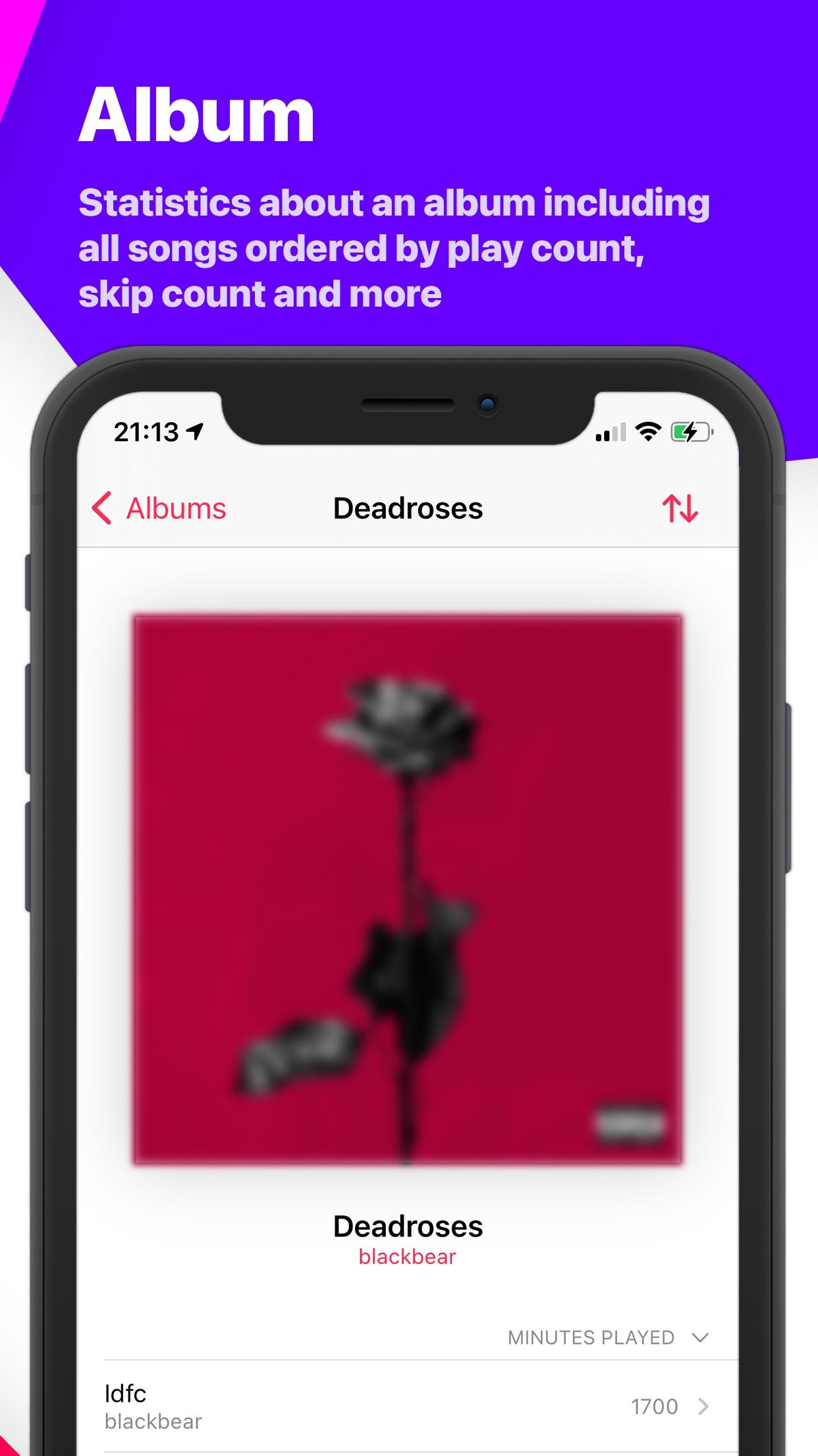 Screenshot do app Song Infos - your music stats