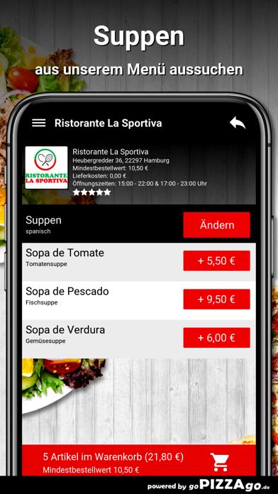 Ristorante La Sportiva Hamburg screenshot 5