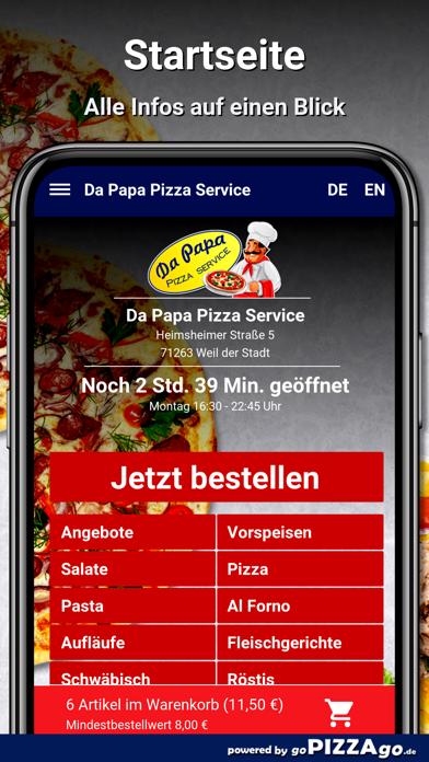 Da Papa Pizza Weil der Stadt screenshot 2