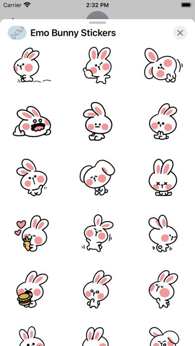 Emo Bunny Stickers screenshot 3