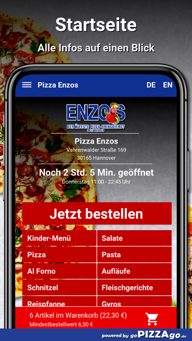 Pizza Enzos Hannover screenshot 2