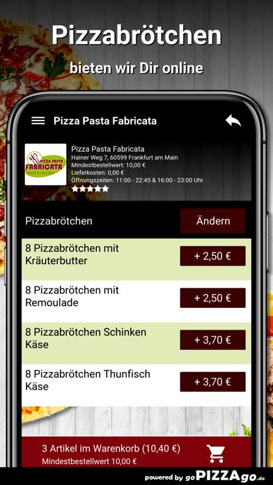 Pizza Pasta Fabricata Frankfur screenshot 5