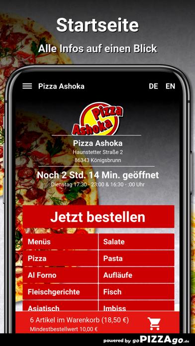 Pizza Ashoka Königsbrunn screenshot 2