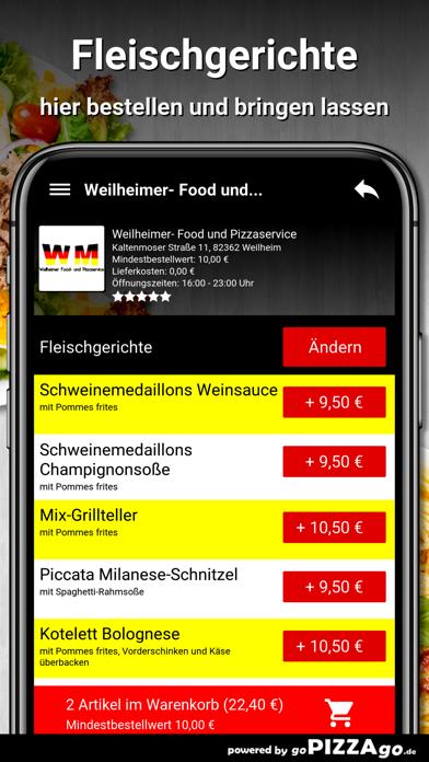 Weilheimer Pizza Weilheim screenshot 6