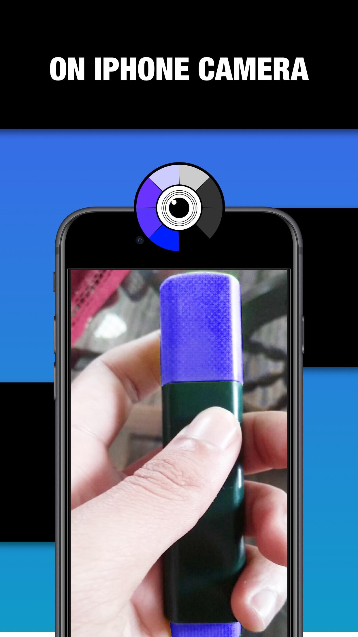 Screenshot do app Color Changing Camera