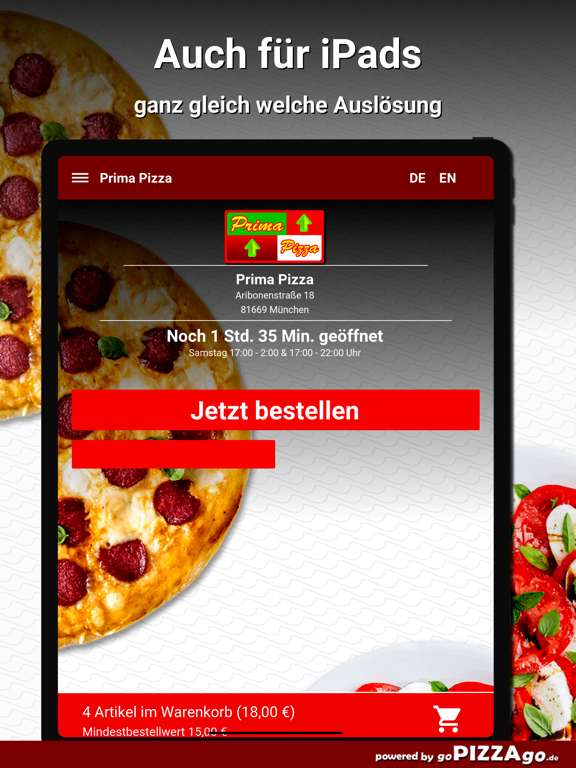 Prima Pizza München screenshot 7