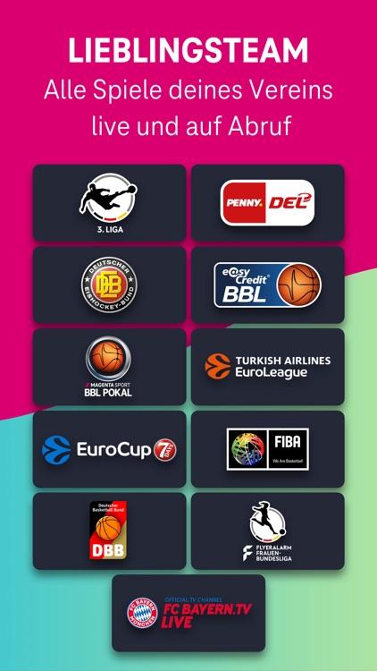 MagentaSport – DEL, BBL live screenshot-3