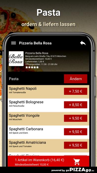 Pizzeria Bella Rosa München screenshot 6