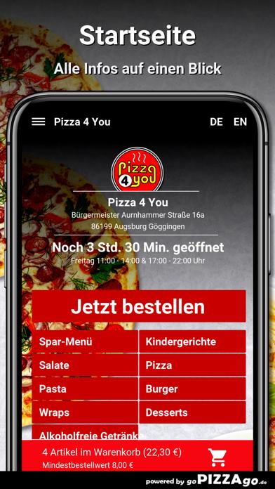 Pizza 4 You Augsburg screenshot 2